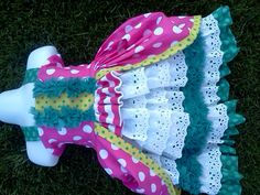 Peacock Polkadot.... I think I want to make this one!!! Kyrie would be so cute!