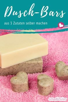 Festes Duschgel: Natürliche Dusch-Bars selber machen aus 3 Zutaten Shower bars are a particularly mild alternative to liquid shower gels or body soaps. With this recipe of three ingredients, you can c The Body Shop, Natural Showers, Goji, Nails Polish, Presents For Her, Body Soap, You Are The Father, Shower Gel, Shower Soap