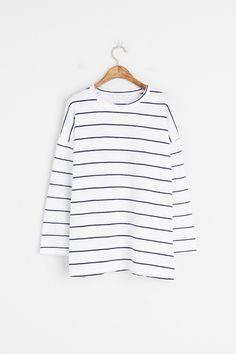Olive - Batwing Stripe Tee, White, £29.00 (https://www.oliveclothing.com/p-oliveunique-20170315-008-white-batwing-stripe-tee-white)