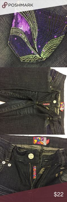 Women's jeans Women's Akademiks jeans very good used condition- Size 28 Jeans Straight Leg