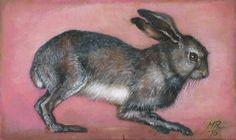 """""""Hasensprung""""+Original+Acryl+auf+Holz+von+Marion+Ruhrberg+/+auf+meine+ART...+auf+DaWanda.com"""