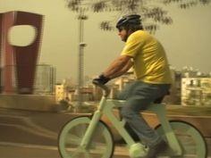 Una bicicleta de cartón, lo último en transporte ecológico
