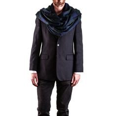 Men's Black Watch #Tartan #Cashmere #Scarf on Model
