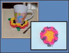 Spring Flowers Coaster  Crochet pattern and Video - Part 1