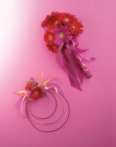 Mix Germini Gerbers Wand and flower hoop