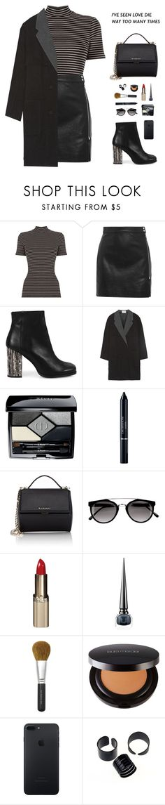 """""What seems like a reasonable distance to one person may feel too far to somebody else."" -Haruki Murakami, After Dark"" by are-you-with-me ❤ liked on Polyvore featuring IRO, Miista, Alexander Wang, Christian Dior, Givenchy, L'Oréal Paris, Christian Louboutin, Bare Escentuals and Laura Mercier"