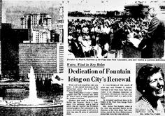 On August 30, 1974, the Point State Park Fountain was dedicated, marking the end of three decades of planning and construction of the park.