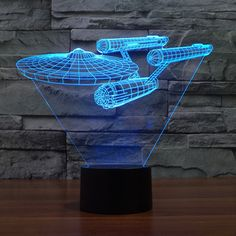 3D Star Trek USS ENTERPRISE LED Gadget Table Lamp Night Light