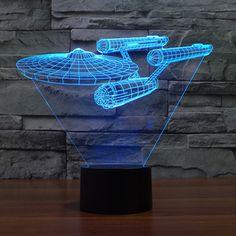 3D Star Trek USS ENTERPRISE LED Gadget Table Lamp Night Light