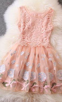 7885195bf0 Designer Gorgeous Embroidered Lace Dress For Women - Apricot