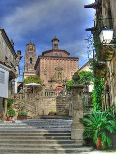 Poble Espanyol, Montjuic, Barcelona, Spain