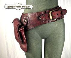 Leder Bauchtasche Oberschenkel-Tasche von Renegadeicon