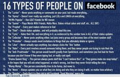 Types of people on Facebook.