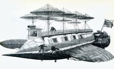 """Frank Reade's electric flying ship """"Eclipse"""" dates from 1892 Dark Roasted Blend: Airship Dreams, Part 2: Even Bigger!"""