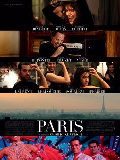 Paris est un film de Cédric Klapisch avec Juliette Binoche, Romain Duris. Synopsis : C'est l'histoire d'un Parisien qui est malade et qui se demande s'il va mourir. Son état lui donne un regard neuf et différent sur tous les gens qu'il