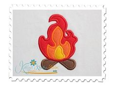 Camp Fire Applique - 3 Sizes! | Camping | Machine Embroidery Designs | SWAKembroidery.com Katelyn's Kreative Stitches