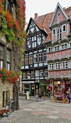 Market Square Quedlinburg in Saxony Anhalt Germany Manfred Kehr