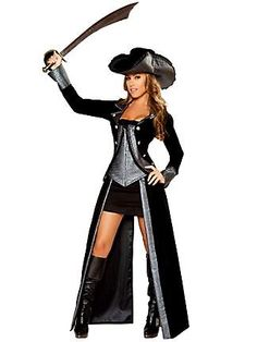 Women's Sexy Pirate Princess Deluxe Costume