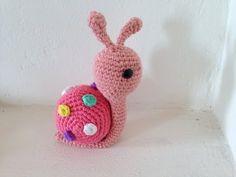 lumaca amigurumi (tutorial schema)/How to crochet a snail amigurumi - YouTube