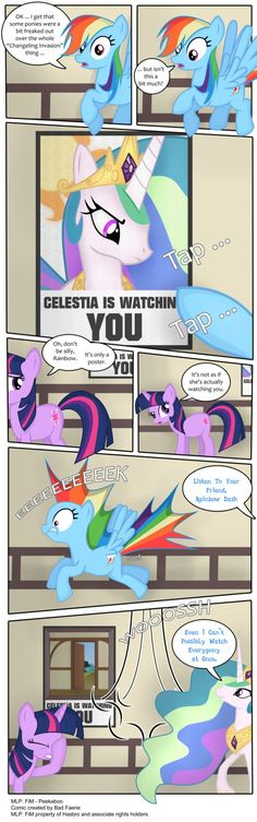 My latest pony comic. I created the vectors in Inkscape and then exported them to Photoshop where I added the text and layout, and did some sprucing up to make it look a little more advanced than m...