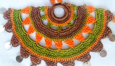 "Handmade Crochet Necklace Traditional Turkish by ForGoodPeople ""Items similar to Handmade Crochet Necklace, Traditional Turkish Lace, Crocheted Necklace on Crochet Motif, Crochet Doilies, Knit Crochet, Crochet Patterns, Crochet Videos, Crochet Accessories, Crochet Projects, Crochet Earrings, Textiles"