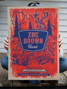 Zac Brown Band silk screened concert poster. $20