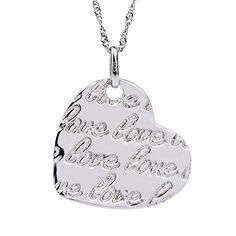 Wishfan Women's LOVE Silver Heart Shape Necklace with Letters Wishfan http://www.amazon.com/dp/B015R1SRN8/ref=cm_sw_r_pi_dp_ZL8awb102B3HF