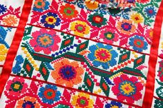 Mexican Cross-Stitch embroidery
