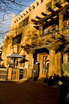 Inn of the Anasazi in Santa Fe, New Mexico New Mexico Style, New Mexico Usa, Monuments, Travel New Mexico, Mexico Tourism, Nevada, Arizona, New Mexico Santa Fe, Utah