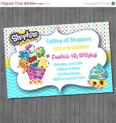50% OFF SALE ENDS 6/14 Shopkins Birthday by sugarandspiceprintz