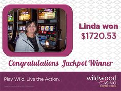 Linda with a $1,720.53 jackpot WIN! Congrats! Jackpot Winners, Thing 1, Congratulations