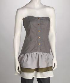 feminine vintage soldier top