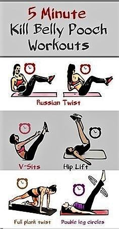 How to lose lower belly pooch? Kill lower belly fat with these 5 minute powerful… How to lose lower belly pooch? Kill lower belly fat with these 5 minute powerful workouts. This stubborn belly bugle has a lot to do with one's personality. Fitness Workouts, Fitness Tips, Health Fitness, Ab Workouts, Fitness Plan, Yoga Fitness, Aerobic Fitness, Belly Workouts, Fitness Challenges