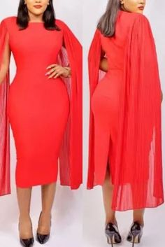 Red Fashion, Fashion Outfits, Cloak, High Neck Dress, Dresses With Sleeves, Long Sleeve, Sexy, How To Wear, Turtleneck Dress