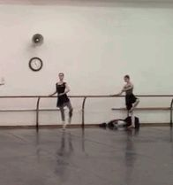 Olga Smirnova (and Joy Womack, on the left) in class at the Bolshoi Theatre.