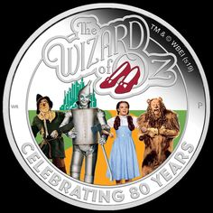 The Wizard of Oz Anniversary Silver Proof Coin Tuvalu 2019 Beloved Movie, Coin Design, Good Movies To Watch, Coins For Sale, Proof Coins, Effigy, Iconic Characters, Wizard Of Oz, 1 Oz