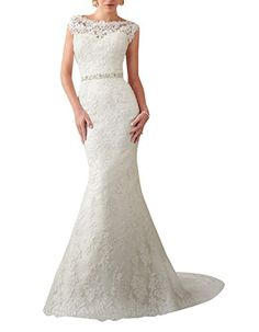 Amore Bridal Lace V Back Wedding Dress Long Appliqued Mermaid Bridal Gown With Beads White, 16 Wedding Dresses Plus Size, Wedding Dress Styles, Bridal Dresses, Wedding Gowns, Party Dresses, Lace Wedding, Lace Dresses, Trendy Wedding, Garden Wedding