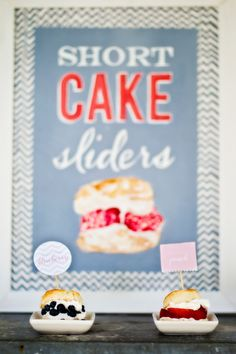 Hand Painted Short Cake Dessert Sign or Late Night Snack Food 18 x 24. $125.00, via Etsy.