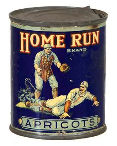 Home Run Apricots Tin   Antique Advertising Value and Price Guide