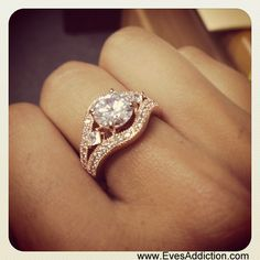 Victoria's Dazzling Brilliant Cut CZ Vintage Rose Gold Ring $62