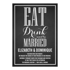 >>>Cheap Price Guarantee          	CHALKBOARD EAT DRINK BE MARRIED WEDDING INVITATION           	CHALKBOARD EAT DRINK BE MARRIED WEDDING INVITATION We provide you all shopping site and all informations in our go to store link. You will see low prices onDiscount Deals          	CHALKBOARD EAT D...Cleck Hot Deals >>> http://www.zazzle.com/chalkboard_eat_drink_be_married_wedding_invitation-161073541424922542?rf=238627982471231924&zbar=1&tc=terrest