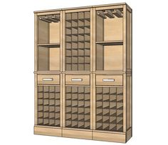 13 Free DIY Wine Rack Plans So You Can Build One Right Now: Modular Barn Wine Grid Hutch by Ana White