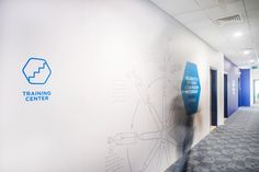 Corporate mural for SIG Obeikan office in Dubai.