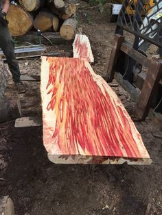 New England's Premier Landscaping and Tree Service Company Wood Shop Projects, Wooden Projects, Wood Crafts, Wood Slab Table, Wood Table Design, Wood Cutter, Wood Supply, Rustic Cafe, Diy Dining Table