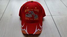 Ride To Live Live To Ride Biker Baseball Cap Velcro Adjustable Embroidered Hat  #Unbranded #BaseballCap