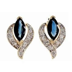 Preowned Marquise Sapphire Diamond Flame Gold Earrings ($1,595) ❤ liked on Polyvore featuring jewelry, earrings, red, gold jewelry, diamond earrings, sapphire diamond earrings, yellow gold diamond earrings and gold round earrings