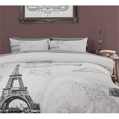 paris bedding set | ... Living - Home Decor - Briscoes - Classic Living Eiffel Tower Duvet Set