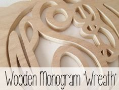 Use a scroll saw or jigsaw to create your own pumpkin (or spider web!) shaped monogram 'wreath' {Reality Daydream}