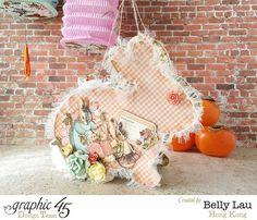 Rabbit Lantern Mini Album - Graphic 45 - Once Upon a Springtime - Belly Lau - 1