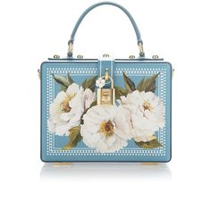 Dolce & Gabbana Peonies Box Bag ($2,775) ❤ liked on Polyvore featuring bags, handbags and shoulder bags